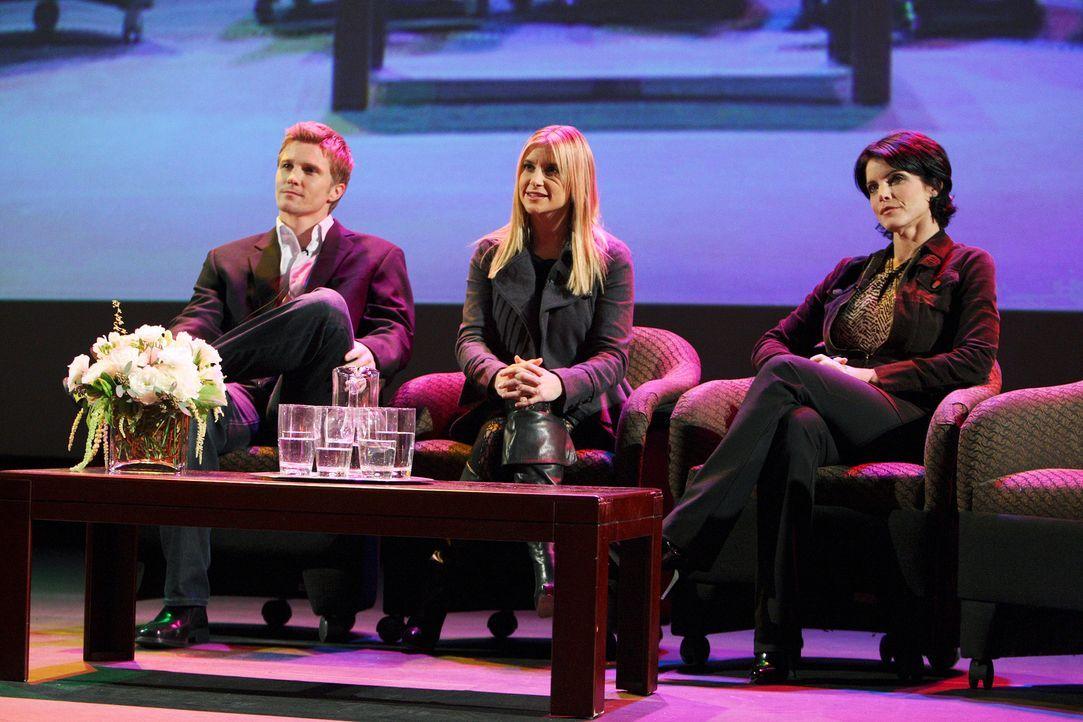 Grant Harper (Thad Luckinbill, l.), Suzanne Zale (Lesli Kay, r.) und Cally O'Keefe (Kellie Martin, M.) sind in Grandview, weil dort eine Folge der b... - Bildquelle: ABC Studios