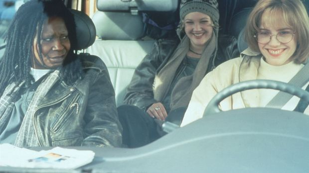 Jane (Whoopi Goldberg, l.), Robin (Marie-Louise Parker, r.) und Holly (Drew B...