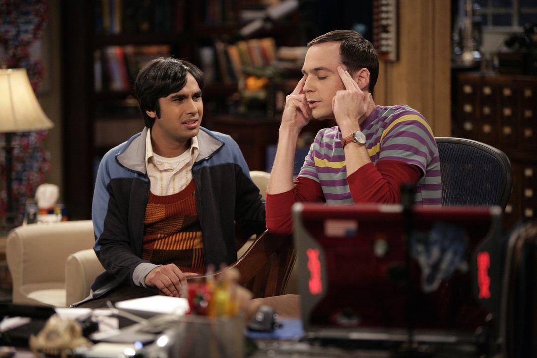 Während Penny und Leonard in Streit geraten, wollen Raj (Kunal Nayyar, l.) und Sheldon (Jim Parsons, r.) ausgehen, um eine Frau kennenzulernen ... - Bildquelle: Warner Bros. Television