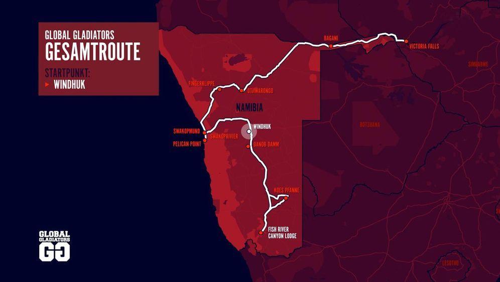 In vier Wochen geht es über 4.000 km quer durch Namibia