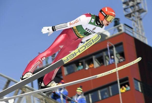 Nach dem Springen auf Position vier: Eric Frenzel