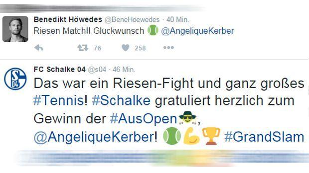 Benedikt Höwedes und FC Schalke 04 Tweet - Bildquelle: twitter / @benehoewedes / @s04