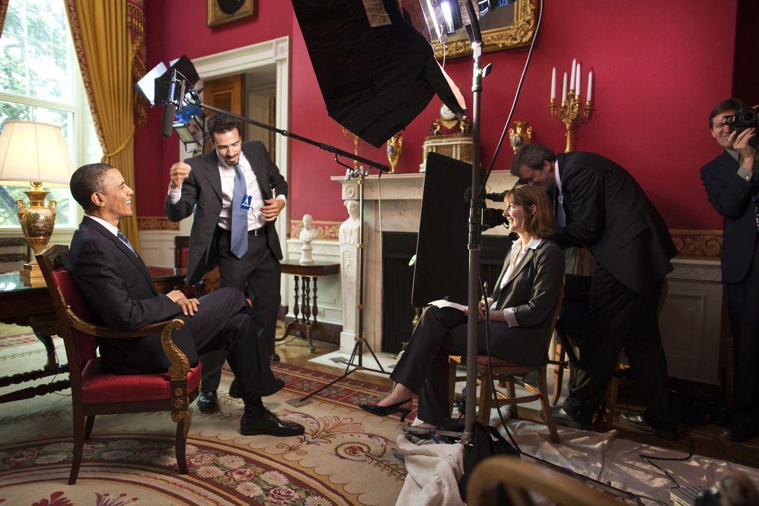 Ein Kamerateam von National Geographic hat den US-Präsidenten Barack Obama fünf Monate lang begleitet. Dabei ist ein exklusiver und intimer Einbli... - Bildquelle: Chuck Kennedy National Geographic Television International
