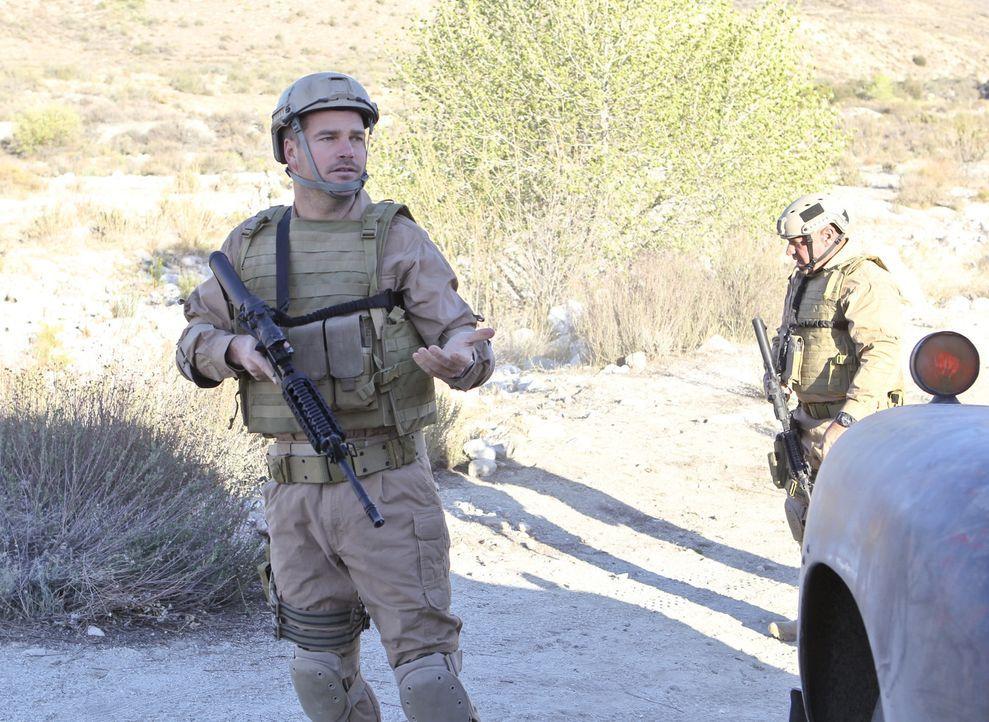 In einem neuen Fall muss Callen (Chris O'Donnell) nach gestohlenen nuklearen Waffen suchen ... - Bildquelle: CBS Studios Inc. All Rights Reserved.