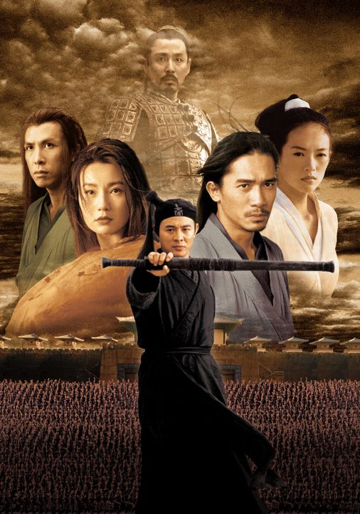 Hero: (v.l.n.r.) Long Sky (Donnie Yen), Flying Snow (Maggie Cheung), Nameless (Jet Li), Broken Sword (Tony Leung Chiu Wai) und Moon (Ziyi Zhang) ... - Bildquelle: Constantin Film