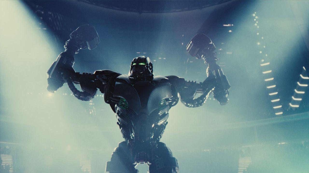 Zeus ist ein unschlagbarer Kampfroboter, der alle seine Kämpfe bereits in den ersten Runden mit einem K.o. beendet ... - Bildquelle: Greg Williams, Melissa Moseley DREAMWORKS STUDIOS.  All rights reserved