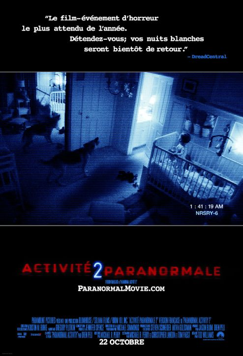PARANORMAL ACTIVITY 2 - Plakatmotiv - Bildquelle: 2010 by Paramount Pictures. All Rights Reserved.