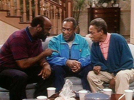 Bill Cosby Show - Cliff (Bill Cosby, M.) muss sich von seinen beiden cricketb...