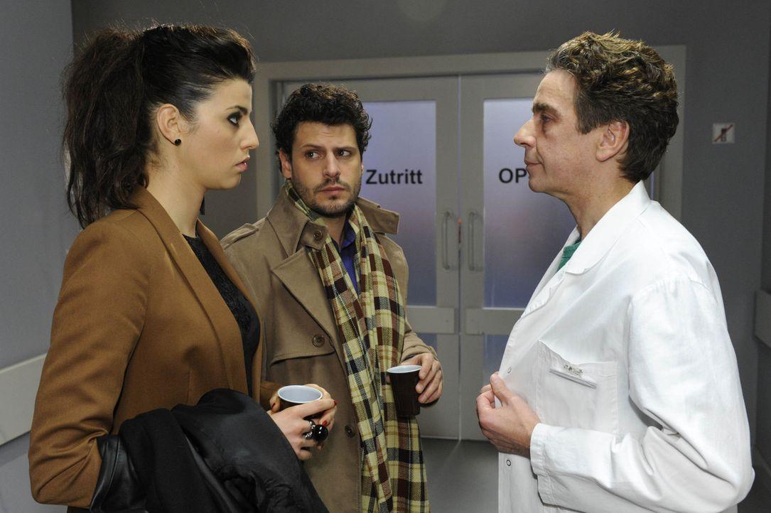 Bangen um Lindenbergs Leben: Luca (Manuel Cortez, M.) und Carla (Sarah Mühlhause, l.) ... - Bildquelle: SAT.1