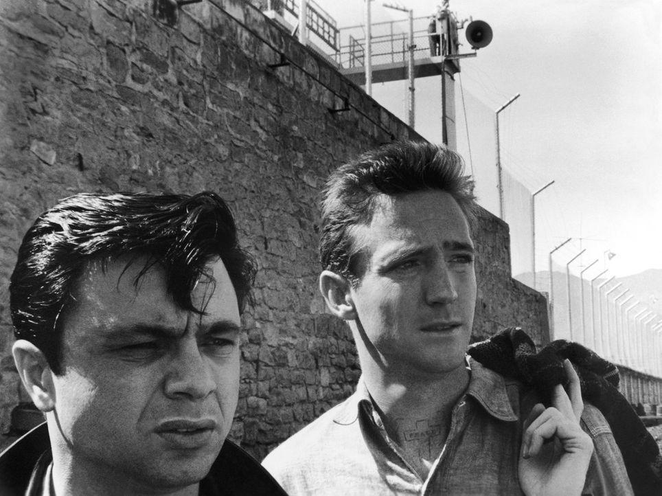 Haben vier Menschenleben auf dem Gewissen: Dick Hickock (Scott Wilson, r.) und Perry Smith (Robert Blake, l.) - Bildquelle: 1967, renewed 1995 Pax Enterprises, Inc. All Rights Reserved.